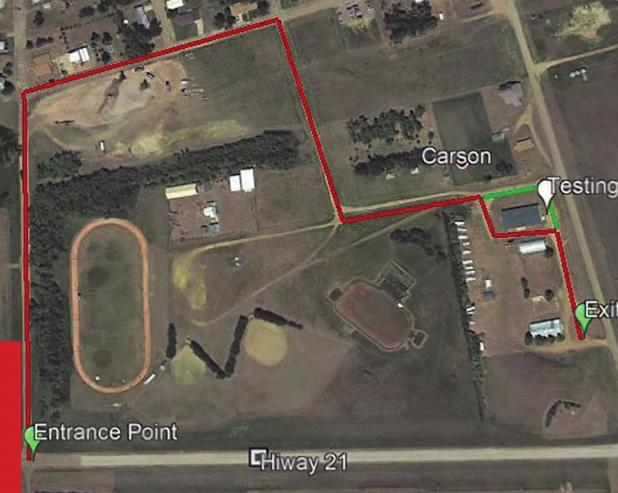 COVID-19 testing in Carson Aug. 3