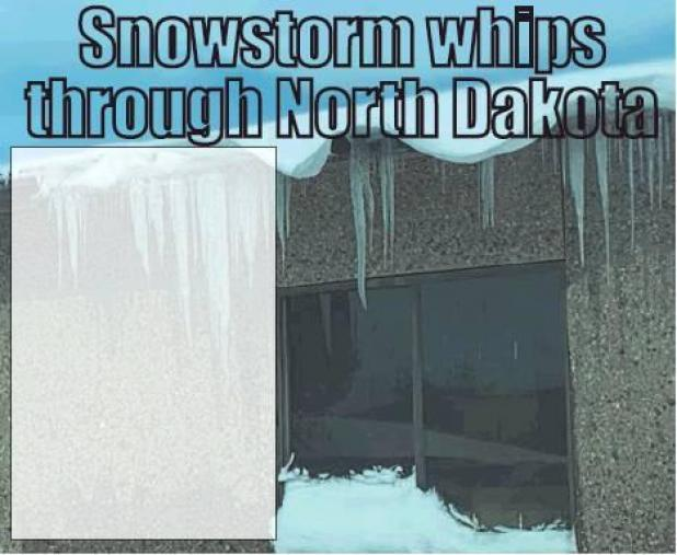 Snowstorm whips through North Dakota