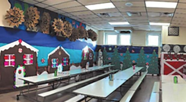Festive Carson lunchroom
