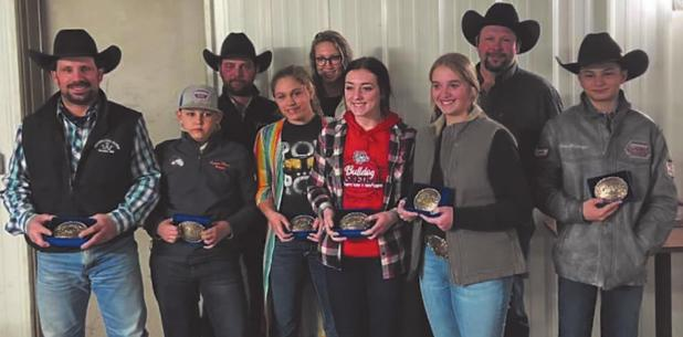 Raleigh Rodeo Club Year-end buckle winners