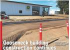 Gooseneck building construction continues